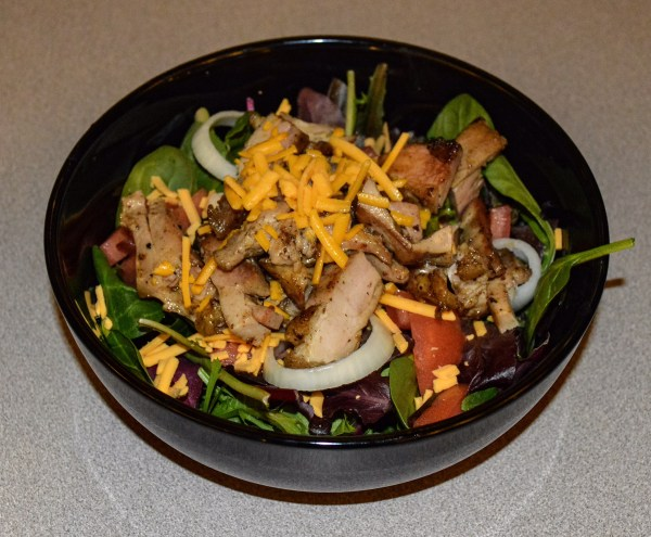 The Grilled Chicken Salad is one of several healthy items that's available.