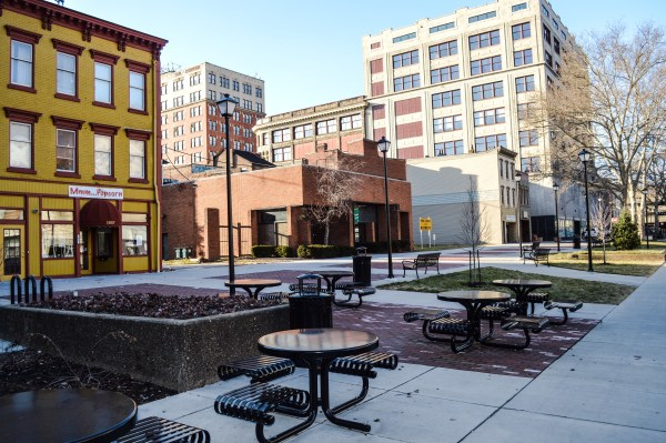 Downtown Wheeling's Market Plaza was an area that would have seen much change if the Fort Henry Mall development would have taken place.