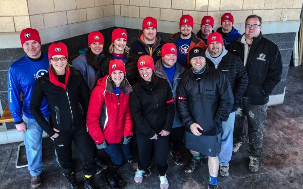 """A portion of the people who participated in the """"Hill Raiser Challenge"""" on Feb. 27."""