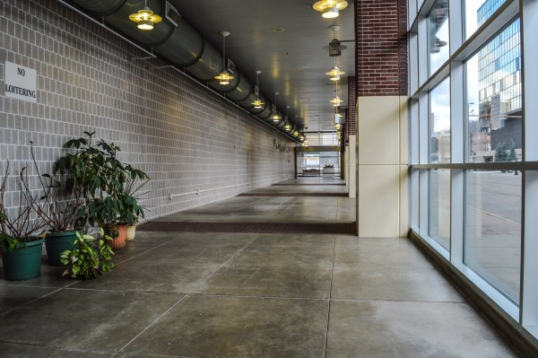 Approximately 3,500 square feet of space is available along Main Street.