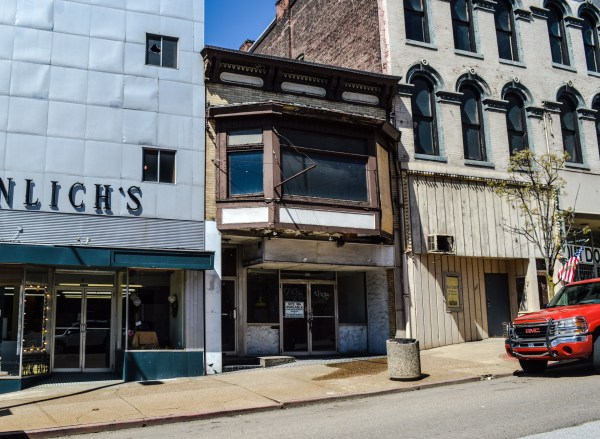The building is located along Main Street between Braulich's and the Outdoor Store.