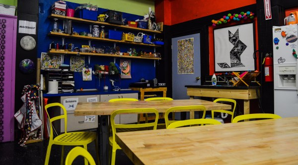 """The """"Make Shop""""is where the visiting children get to create while learning."""