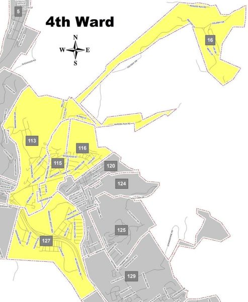 The map for Ward 4.