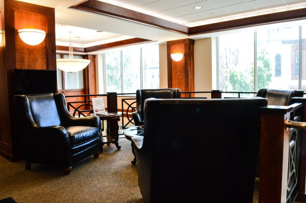 There is also a lobby located on the second level of the Kaley Center.