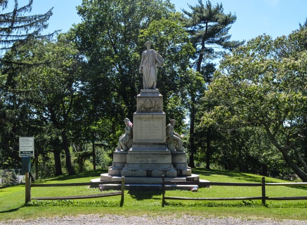 The monument has been located on this hilltop since 1956.
