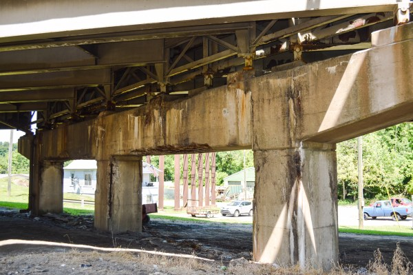 """Most of the supports for all three bridge systems east of Wheeling Tunnel are in """"critical"""" condition."""