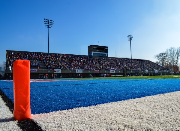 Wheeling Island Stadium was jam packed for the Class AAA championship game last December.