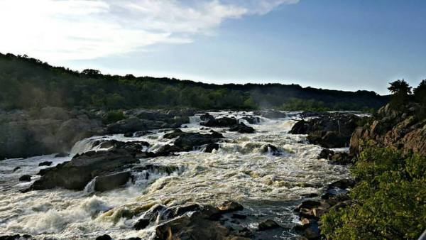 The Great Falls is located about 10 miles from Washington, D.C.