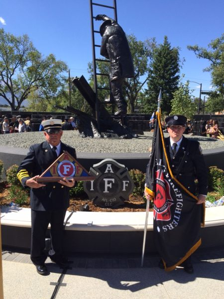 Chief Helms has been very involved with honoring firefighters who lost their lives protecting the public.