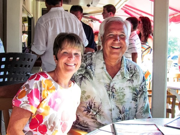 David McCormick with his wife, Beth.