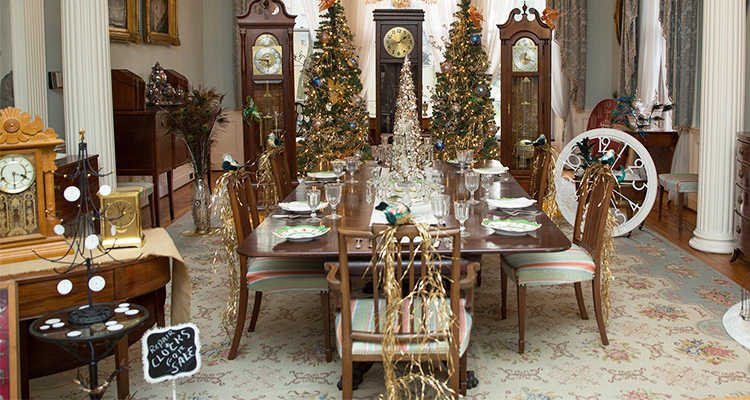 Holiday decorations at the Ogelabay Institute Mansion Museum