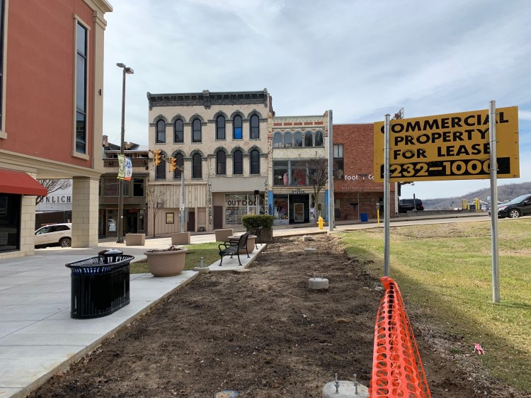 downtown streetscape project and buildings