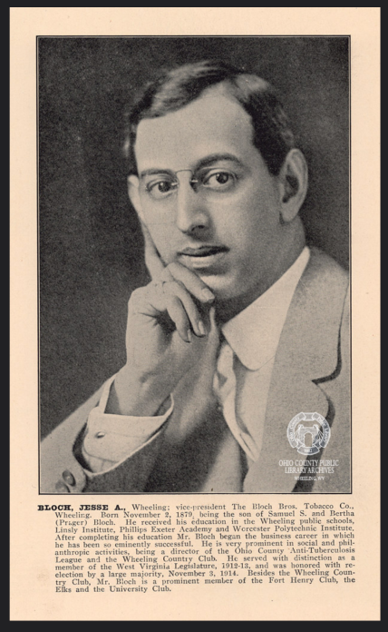 A newspaper clipping about Jesse Bloch