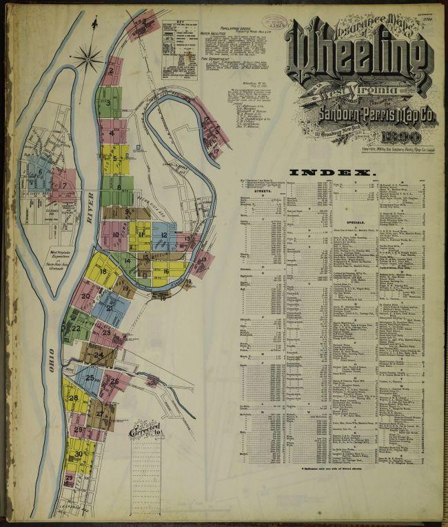 Map of Wheeling