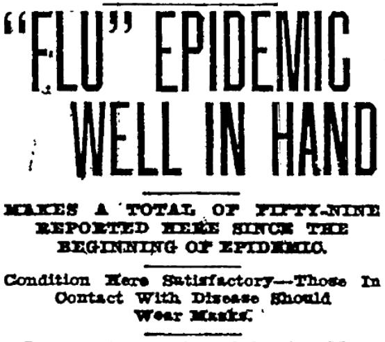 Flu Newspaper