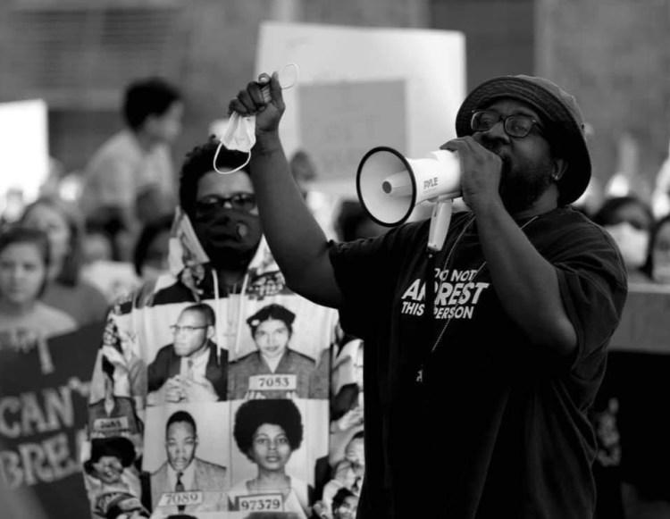 wheeling racial injustice rally