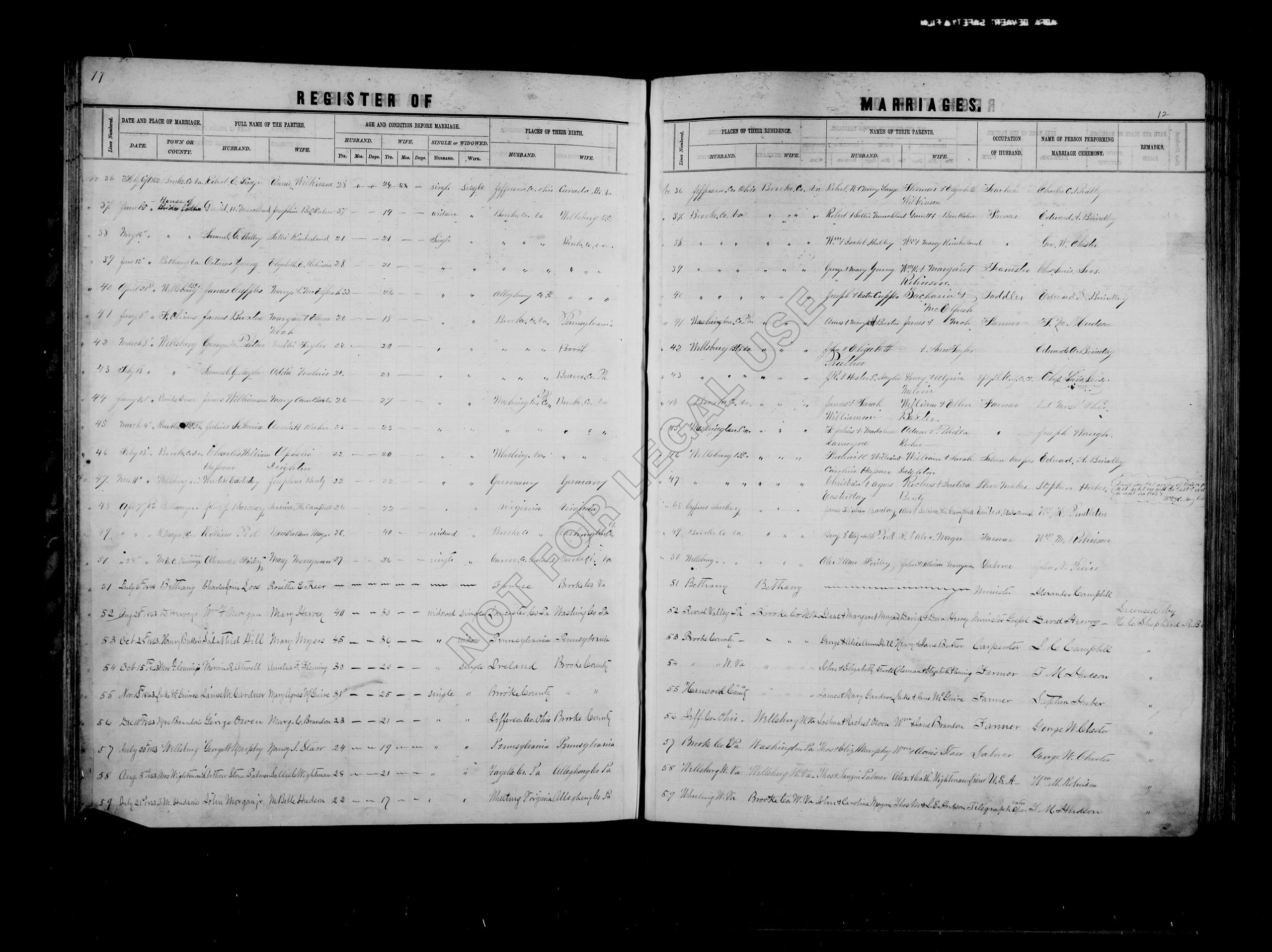 1863 Marriage Certificate