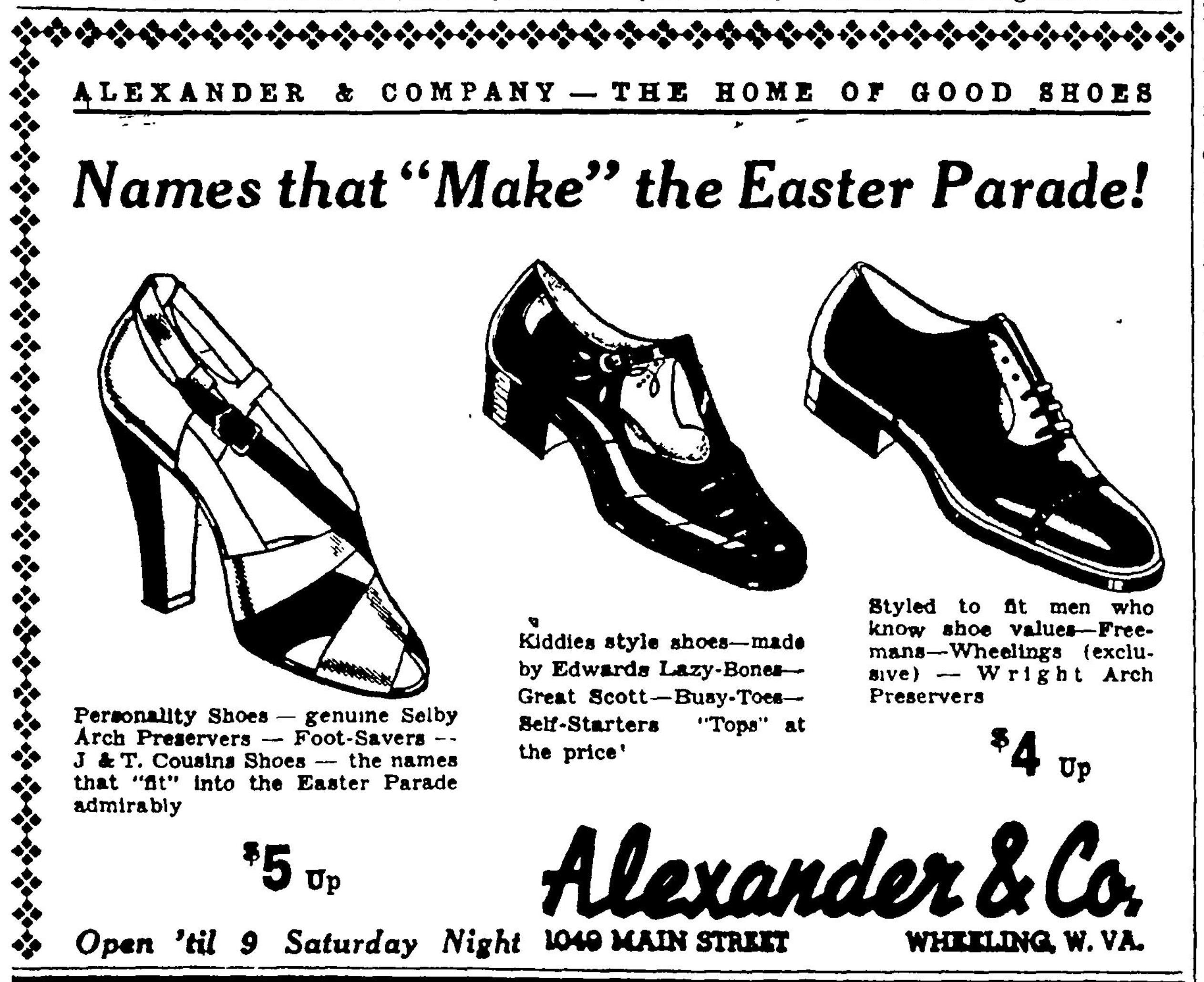 Alexander & Co - Wheeling Intelligencer, April 15, 1938