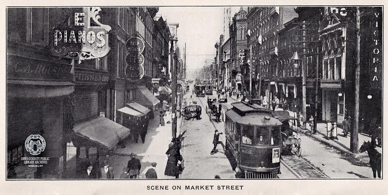 Bustling scene on Market Street