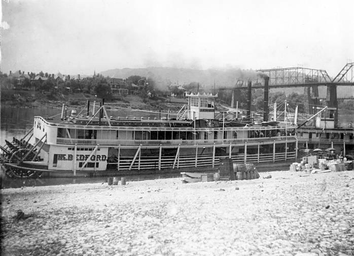 The H.K. Bedford shown docked in Wheeling, WV