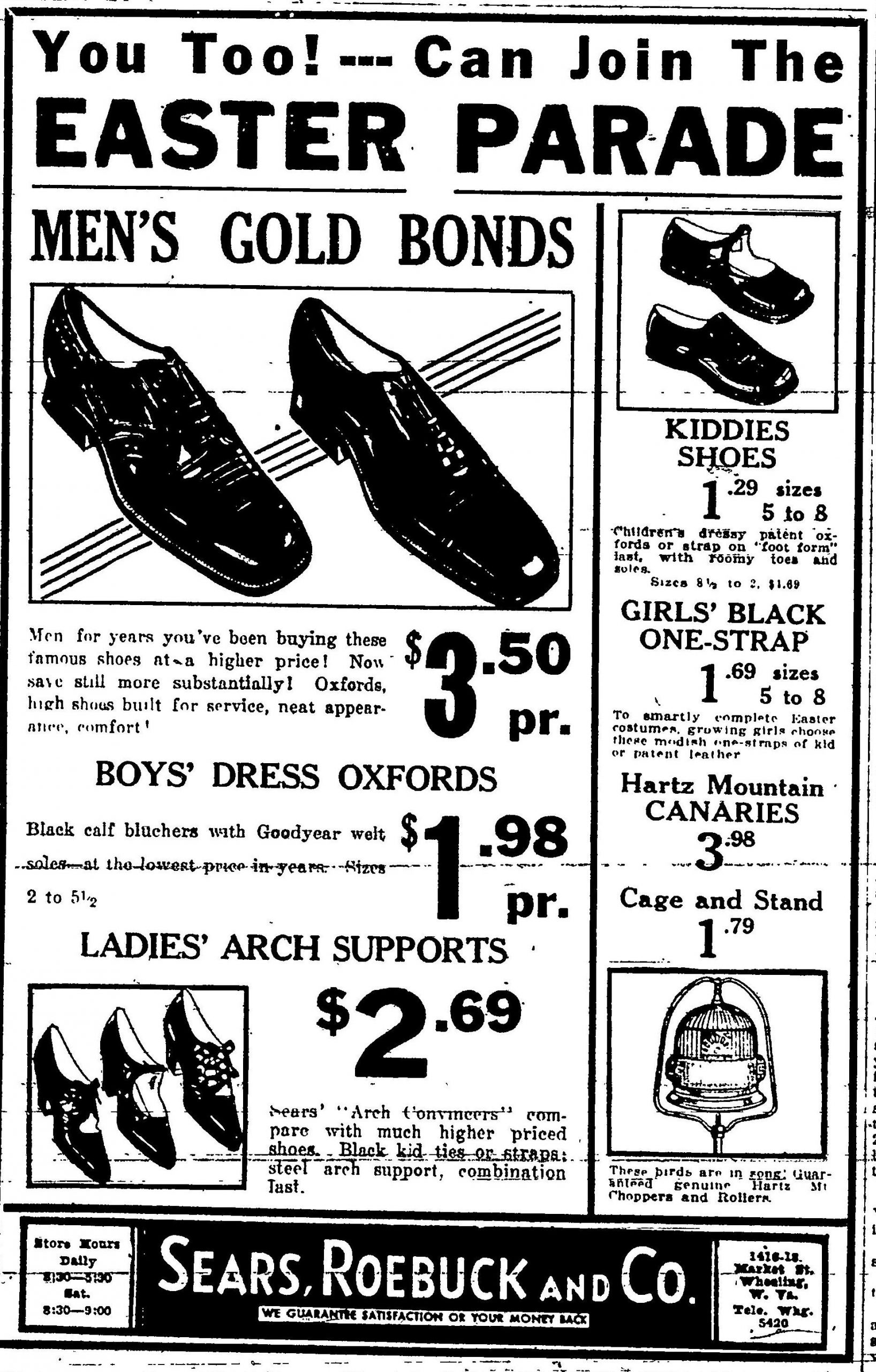 Sears, Roebuck and Co. - Wheeling Intelligencer, March 25, 1932
