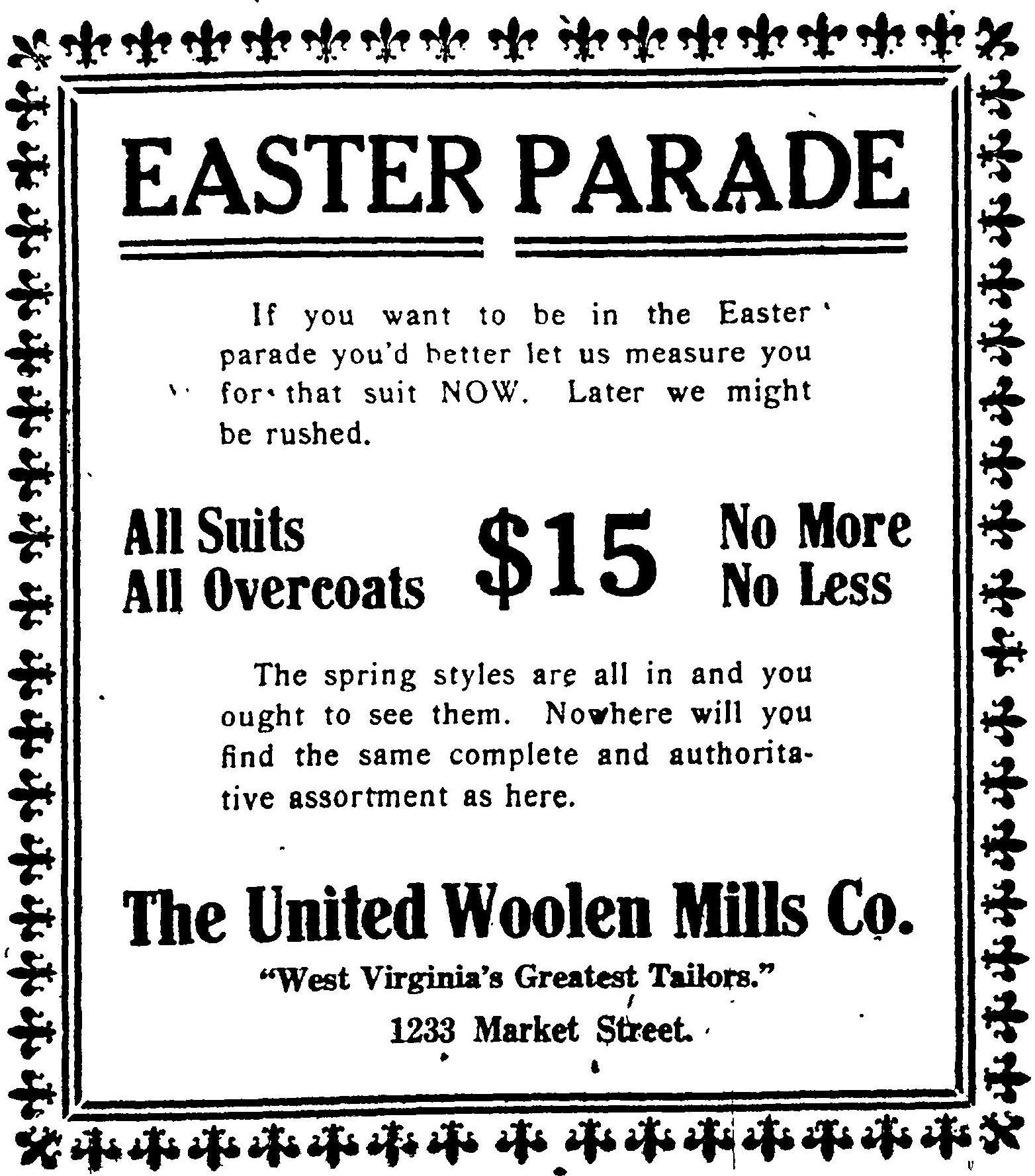 The United Woolen Mills Co. - Wheeling Intelligencer, March 23, 1911