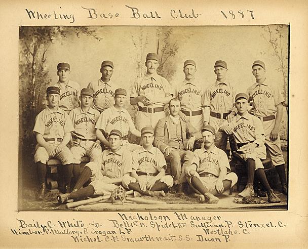 1887 Wheeling Green Stockings Publicity Photo