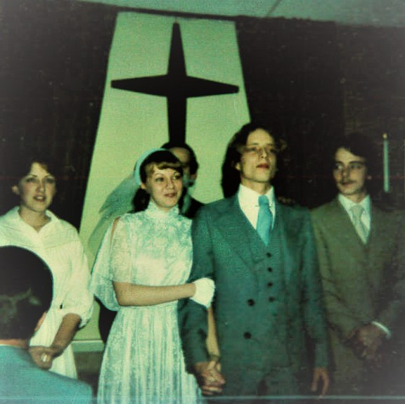 Julie and Michael's wedding day, 1979