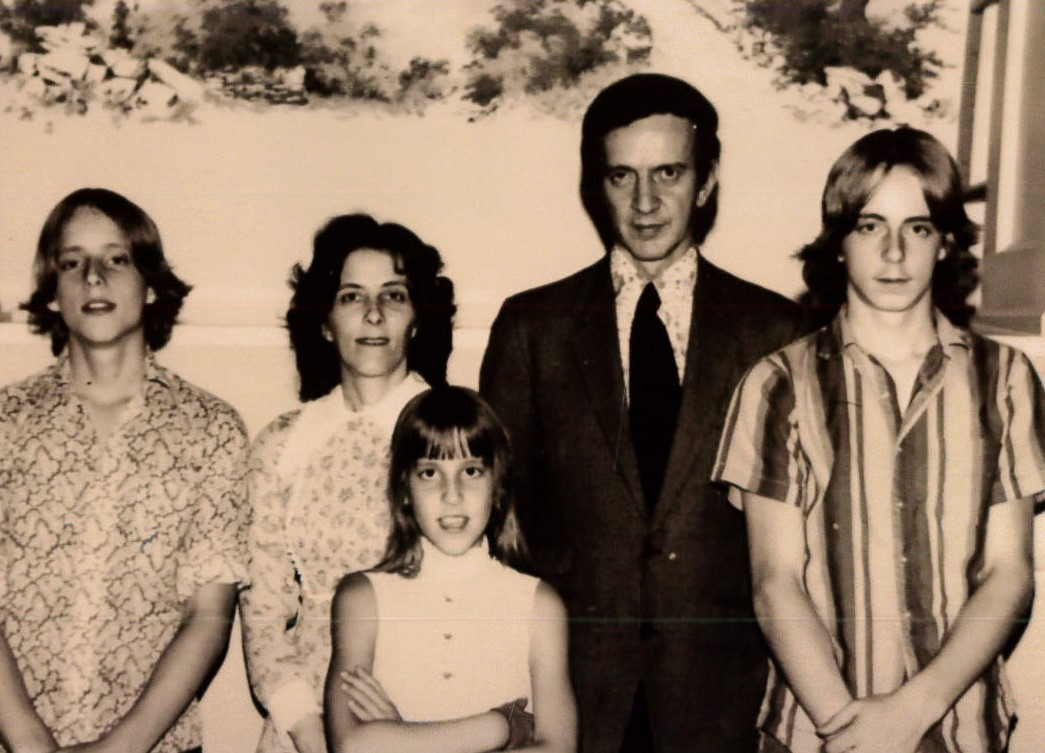 Michael and his family shortly after moving to Wheeling in 1974
