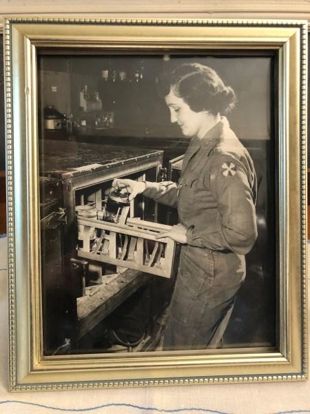 Della, in uniform, working at the 44th MASH, circa 1950s