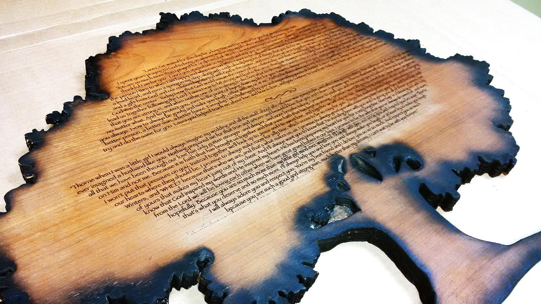 we engrave wood custom wood engraving