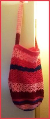 Tas voor Ria gemaakt door Marielle. Ria helemaal blij!