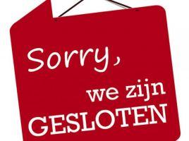 Sorry Gesloten