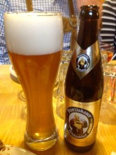 Weissbier (wheat beer), you have to try it!