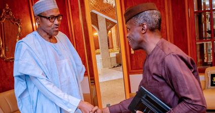 This is how rumours of a fight between Buhari and Osinbajo began