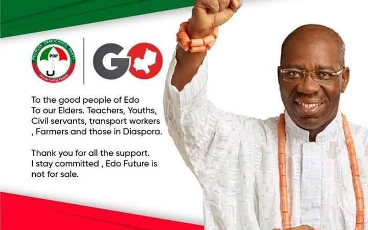 JUST NOW!! Edo PDP Resolves Party Crisis, Ogbeide-Ihama Asked Court To Discontinue Case Against Obaseki