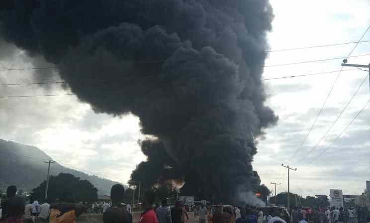 Happening Now!! Terrible Fire Outbreak In Kogi, Dozen Feared Dead, Including Six People From One Family (Photos)