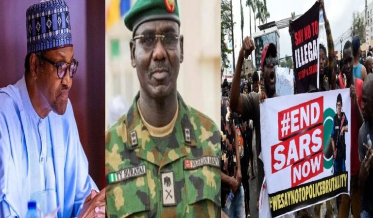 JUST IN!! Panic In Nigeria As Chief of Army Staff, Buratai Threatens To Deploy Soldiers For #ENDSARS Protesters
