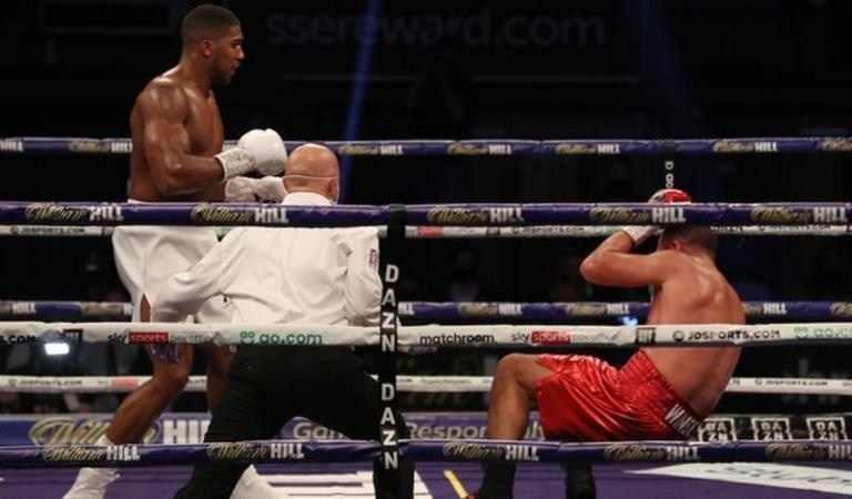 BREAKING!! Anthony Joshua Knocks Out Pulev To Retain World Heavyweight Titles