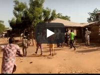 BREAKING!! Heavy Gunshots In Oyo As Igboho & His Boys Chase Fulani Residents From Igangan (Video)