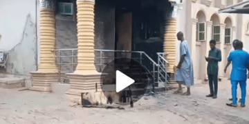 BREAKING!! Sunday Igboho's Mansion Burnt Down In A Reprisal Attack By...See Who Set Igboho's House on Fire (Video+Photos)