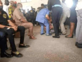 BREAKING!! Imo Crisis Continue As Rochas Okorocha Faints In Court Room (Photos)