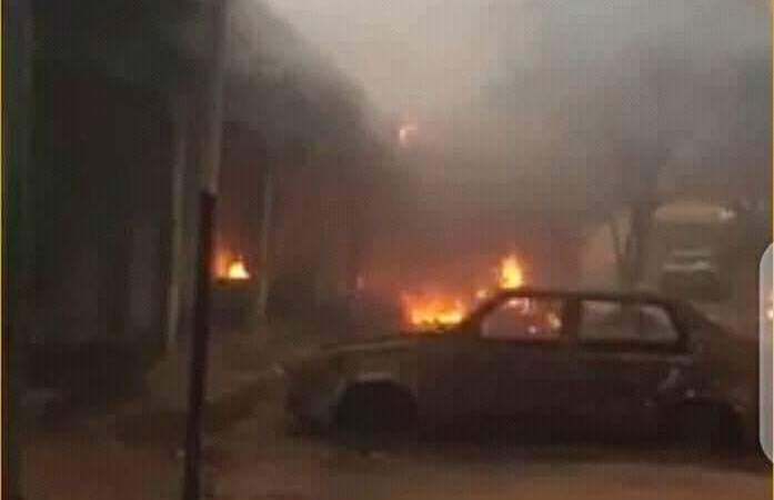 JUST NOW!! Tension As Unknown Gunmen Kills Six Policemen In Abia, Set Another Police Headquarters On Fire