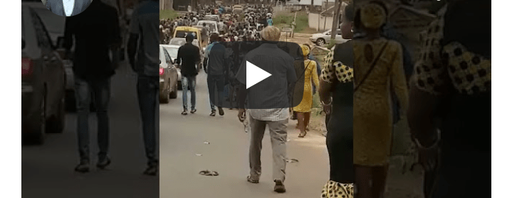 HAPPENING NOW!! Heavy Protest Rocks Enugu Over Fr. Mbaka's Disappearance [Video]