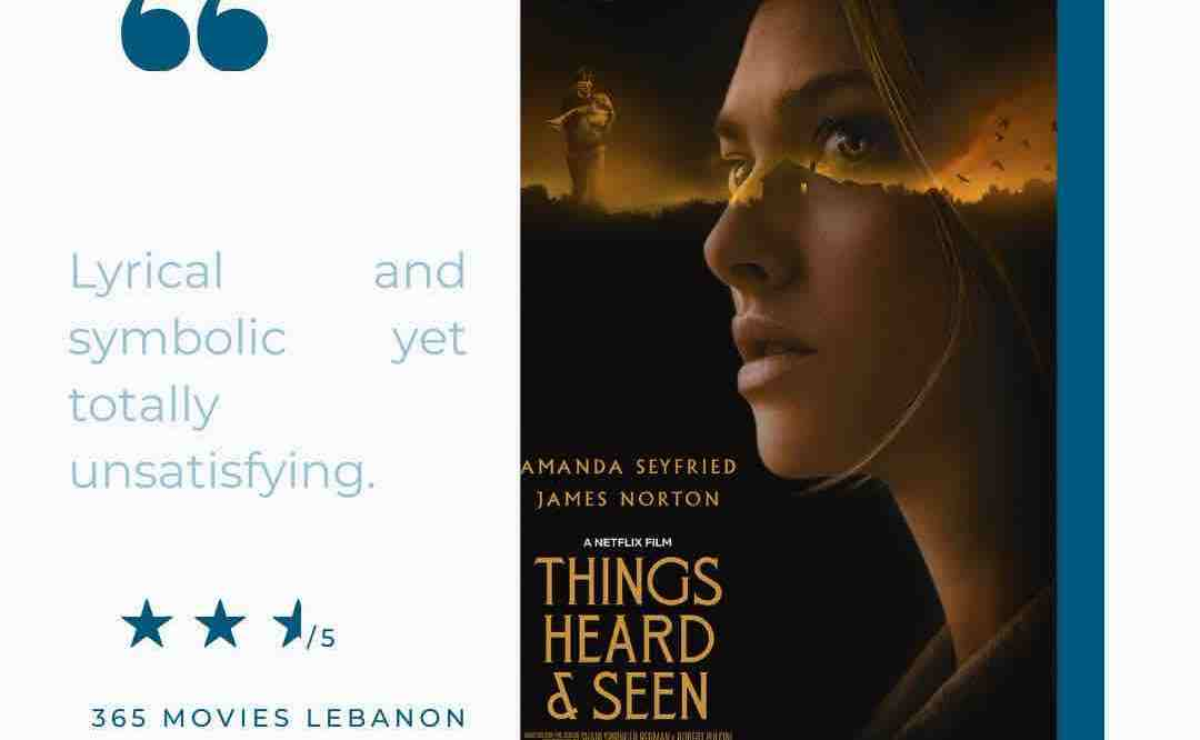 Things heard and seen film