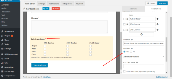 Mark checkbox field as required on WordPress form with weForms