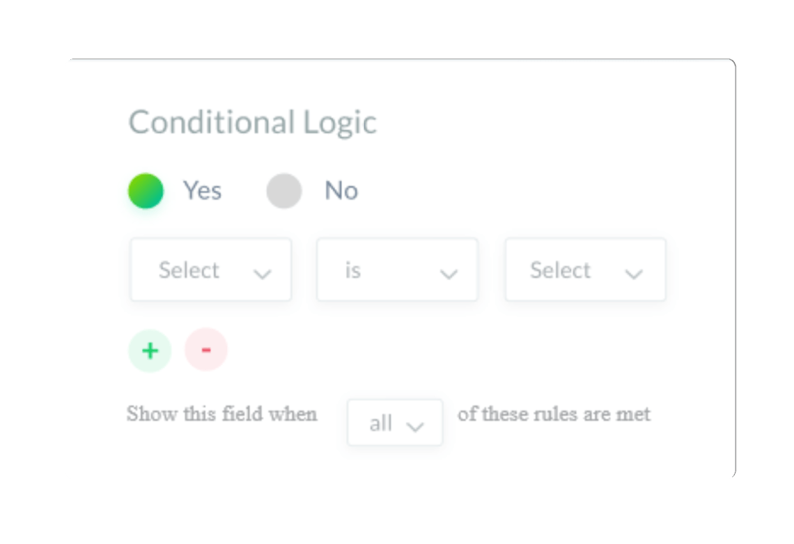 weforms has conditional logic for WordPress forms