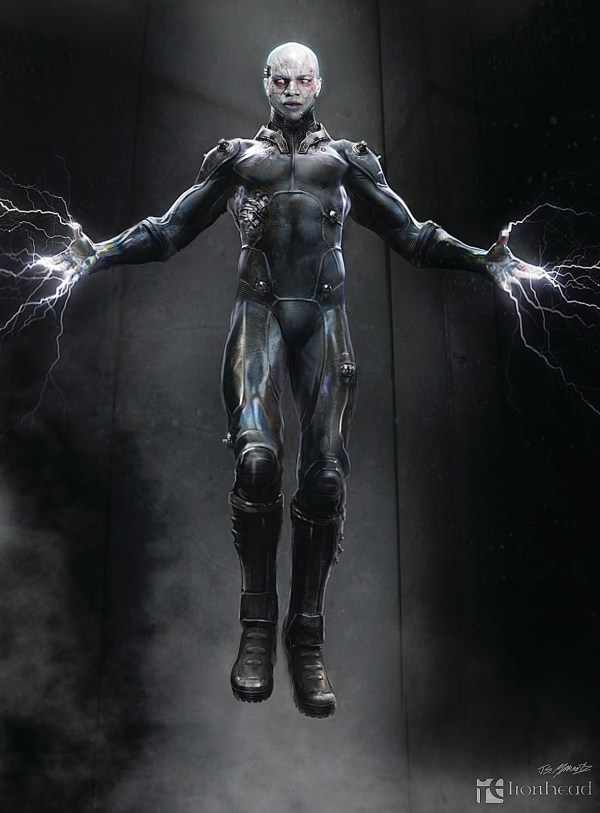 Concept Art Electro And Spider-man Amazing