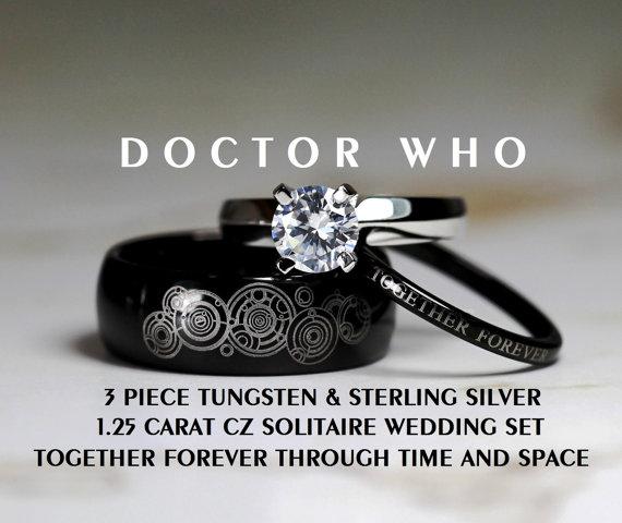 Stunning Doctor Who Wedding Ring Set We Geek Girls
