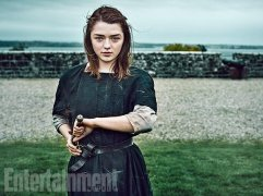 """Maisie Williams as Arya Stark """"Last season people asked: 'Is she dead?' I'm all, 'No, she's blind.' It's too easy to kill her,"""" says Williams. """"If there's one thing we've learned from Game of Thrones it's that death is the easy way out."""" (Image Credit: MARC HOM for EW)"""